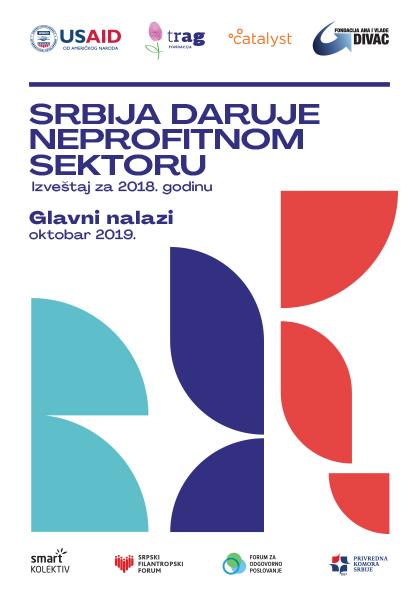 Srbija daruje neprofitnom sektoru 2018 - glavni nalazi